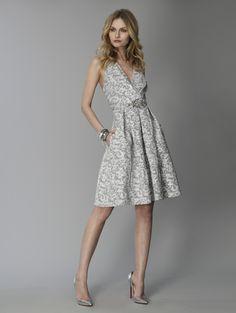David Meister's Silver Brocade Dress.