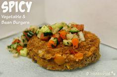 Spicy Vegetable & Bean Burgers #vegan