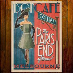 The Paris end of town! Melbourne Art, Stationery Items, Retro Art, Pigment Ink, Image Shows, Printmaking, Paris, Art Prints, Color