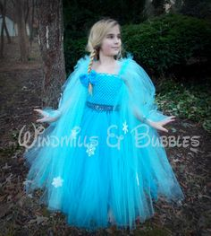 Elsa The Snow Queen inspired Tutu Dress AND matching hair bow on Etsy, $20.00