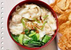 Pangsit Kuah rumahan simple,enak dan segar+ foto step by step ^_^