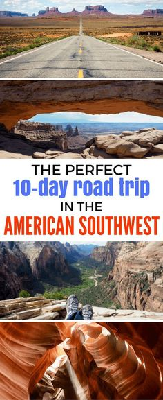 The Perfect American Southwest Road Trip Itinerary in 10 Days - - Thinking of planning a Southwest road trip? This detailed itinerary will help make sure you see the very best of the American Southwest. Road Trip Packing List, Road Trip Map, Road Trip Destinations, Road Trip Essentials, Road Trip Hacks, Drive In, Arizona Road Trip, The Journey, Road Trip With Kids