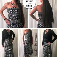 There are so many ways to style your maxi skirt...talk about versatility! #styleyourmaxi #lularoemaxi #maxiskirt https://www.facebook.com/groups/lularoederbecca