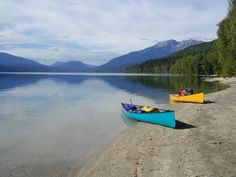 Canoeing  on Clearwater Lake Wells Gray Provincial Park