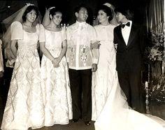Silver Wedding Anniversary Filipiniana Dress, Filipino Fashion, Philippines Culture, 25th Wedding Anniversary, All About Fashion, Vintage Dresses, Gowns, Barong Tagalog, Celebrities