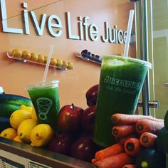 The Detoxifier, from Juice It Up! Return your body to pure with this blend of 6 fruits and vegetables designed to remove toxins leaving you feeling fresh and healthy. Raw Juice Bar, Live Life Juiced.