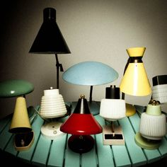mini lampes vintage