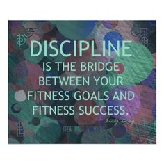 Bubbles of Fitness Discipline