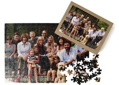 """Pinhole Press Puzzle >>  With 252 puzzle pieces, it's hours of fun for all ages!  Just pick your favorite vacation photo, family reunion portrait or class picture and let the puzzling begin. Product Details  Color  White  Photos  1  Size  14.375 x 10.25""""  Paper  Lustre photo paper  Additional Information  252 puzzle pieces"""
