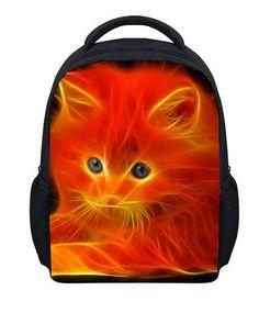 Kids 3D Animal School Bag Cute Cat Print Small Backpacks for Baby Girl Boy Kindergarten Flower Pattern Bag Child's Best Gifts