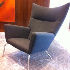Chair in lobby at Warburg Pincus.  Surprisingly comfortable.