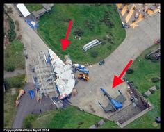 Star Wars Episode VII Millennium Falcon And X-Wing Revealed In Aerial Photo