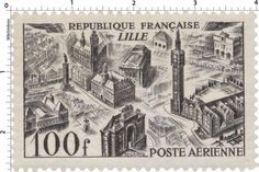 France  Stamp - Lille - Poste aérienne (1949)