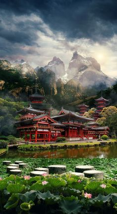 How to Create a Mysterious Matte Painting Landscape in Photoshop Tutorial you can find herewww.ws/phot… Learn how to create th. How to Create a Mysterious Landscape Fantasy Landscape, Landscape Photos, Landscape Paintings, Landscape Photography, Nature Photography, Japon Illustration, Plains Background, Scenery Wallpaper, Japanese Architecture
