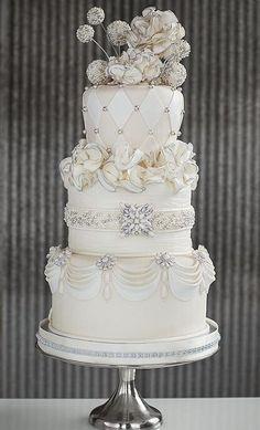 Indian Weddings Inspirations. Ivory Wedding Cake. Repinned by #indianweddingsmag indianweddingsmag.com #vintage