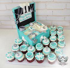 Tiffany Jewelry Box Birthday Cake and Cupcakes