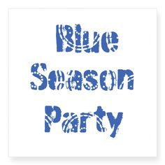 Cool Blue Season Holiday Party Sticker, personalize it with your own text! Perfect for parties, gifts, home decor,kids rooms!