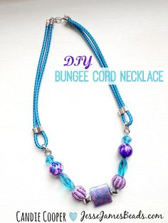 Bungee Cord Necklace tutorial link + a 20 strands of beads giveaway!