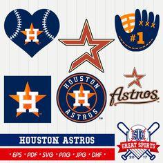 Houston Astros SVG, Astros Clipart, Houston Astros DXF, Baseball Clipart, Astros Clipart,  Clipart SVG, mb-07