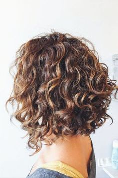 Curly or Wavy Haircuts 2019 Short Curly Haircuts Inverted Bob Hairstyles, Haircuts For Curly Hair, Curly Hair Cuts, Curly Hair Styles, Trendy Haircuts, Layered Curly Hair, Medium Haircuts, Pixie Haircuts, Medium Hairstyles