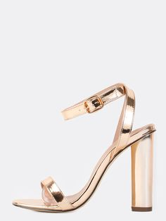 da5bb953071 Online shopping for Wrap Around Metallic Chunky Heels ROSE GOLD from a  great selection of women s