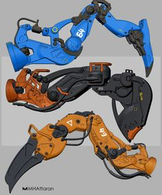 ArtStation - mechanical arms, Mohammad H. Mechanical Arm, Mechanical Design, Character Concept, Character Art, Character Design, Robot Design, Game Design, Eve Online, Robot Animal