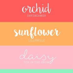 He and I : Free Script Fonts for Summer!