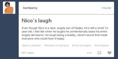 I can see will trying to get Nico to laugh