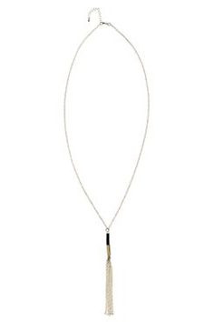 Sheila Stone And Tassel Necklace at boohoo.com
