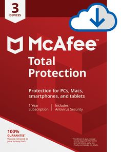 McAfee 2018 Total Protection - 3 Devices [Online Code] - Browse, bank, and shop safely with McAfee Total Protection, which provides premium antivirus, identity, and privacy protection for up to 3 of your PCs, Macs, smartphones, and tablets whenever your online. With a quick install, it blocks threats using antivirus that's verified by independent tests...
