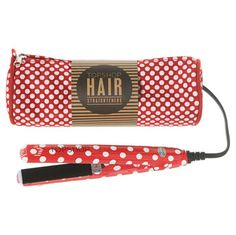 NEED THIS! Topshop branded mini hair straightener with all over spot design.