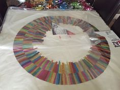 Forming art work from recycled confectionery and chocolate wrappers. Rowntrees Fruit Pastilles, Modern Art, Contemporary Art, Quality Street, Square Art, Collage Artists, Recycled Art, Confectionery, Recycling