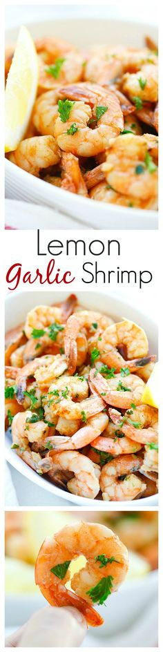 Lemon Garlic Shrimp – easiest and best shrimp recipe with lemon, garlic, butter, and shrimp, all ready in 20 mins. Perfect as appetizer or with pasta | rasamalaysia.com