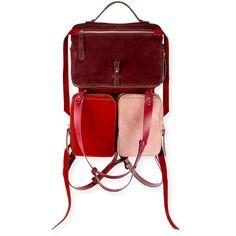 Anya Hindmarch The Stack Small Convertible Shoulder Bag (€1.695) ❤ liked on Polyvore featuring bags, handbags, shoulder bags, convertible shoulder bag, anya hindmarch handbags, shoulder hand bags, convertible handbag and shoulder bag purse