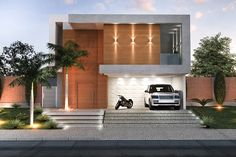 Our Top 10 Modern house designs – Modern Home Cool House Designs, Modern House Design, Facade Design, Exterior Design, Modern House Facades, Villa, Industrial House, Facade House, Facade Architecture