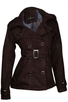 Designer Damen Jacke Übergangsjacke Wildlederimitat Trenchcoat | Jacken | Damen Mode | DeineFashion