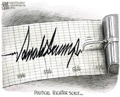 POLITICAL EARTHQUAKE | May/07/16 Adam Zyglis - The Buffalo News - Trump Shock Waves