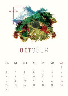 Calendar 2016 on Behance