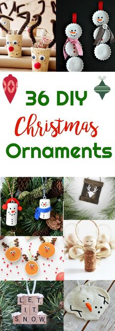 36 DIY - Christmas Ornaments   Healthy Living in Body and Mind via @peaceloveandlocarb