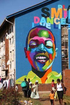 by Karski in Zimbabwe (LP) | Street Art | Street Artists | Art in Africa | Africa | Street art in Zimbabwe | Zimbabwe Street Art | Art | urban art | modern art | graffiti | mural | travel | Schomp MINI