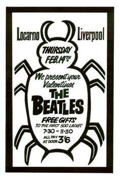 The Beatles Valentines Day Concert Poster 1963 Beatles Poster, The Beatles, Poster Pictures, Print Pictures, John Lennon Paul Mccartney, Concert Posters, Music Posters, Greys Anatomy Memes, Judas Priest