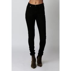 Cheap Monday Second Skin Jean ($75) ❤ liked on Polyvore featuring jeans, new black, high waisted skinny jeans, zipper skinny jeans, skinny jeans, denim skinny jeans and high rise jeans