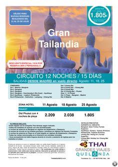Gran Tailandia desde 1.805€ Tax incl. Salidas lunes 11, 18 y 25 de Agosto desde Mad ultimo minuto - http://zocotours.com/gran-tailandia-desde-1-805e-tax-incl-salidas-lunes-11-18-y-25-de-agosto-desde-mad-ultimo-minuto/