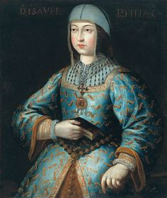 Isabella the Catholic, Queen of Castile. Painting by Antonio del Rincón