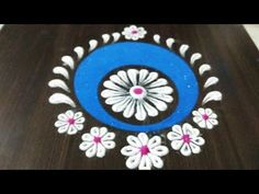 How to make easy and simple/unique border rangoli designs by Jyoti Rathod,rangoli,festival rangoli d Easy Rangoli Designs Videos, Rangoli Designs Latest, Rangoli Designs Flower, Colorful Rangoli Designs, Beautiful Rangoli Designs, Kolam Designs, Rangoli Colours, Rangoli Patterns, Rangoli Ideas