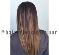 Straight Balayage melt | cut | style  www. Hairbyjessicaminor.com {Instagram} #hairbyjessicaminor