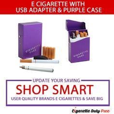 E Cigarette With USB Adapter & Purple Case - http://www.cigarettedutyfree.com/english/e-cigarettes/traditional-e-cigarettes/e-cigarette-with-usb-adapter-purple-case.html