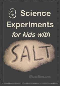 Love kitchen science experiments with materials you already have in the pantry. These science activities all use salt plus one or two other ingredients. Simple yet fun. Kids not only learn about salt attributes, but also scientific thinking, process, and methodology. Cool science project ideas to do at home or school.