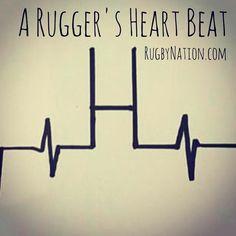 A Rugger's Heart Beat Be Like... ❤️