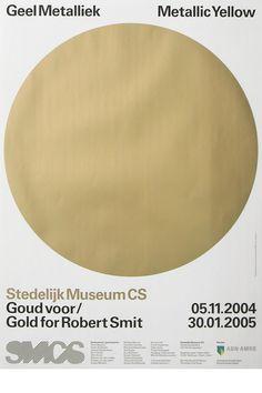 Exhibition poster for Stedelijk Museum CS, 2004. Experimental Jetset Posters.